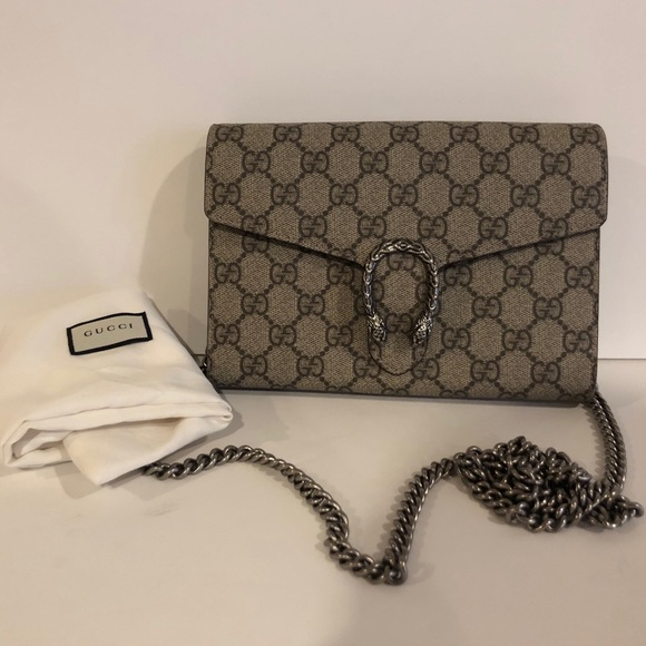ee1f720ed528 Gucci Handbags - Gucci- Dionysus GG Supreme Mini Chain Bag